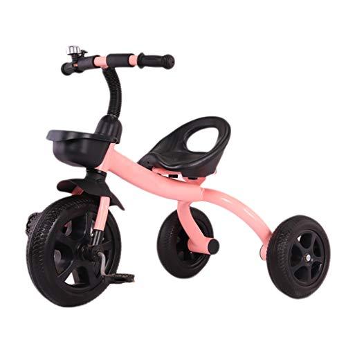 GCXLFJ Triciclo Evolutivo Toral Triciclo, Peso liviano, niños Fuertes 2 en 1 Triciclo de Asiento Multifuncional Ajustable, Triciclo Exterior for bebé de 2-5 años, 3 Colores, 60x50x78cm (Color : Pink)