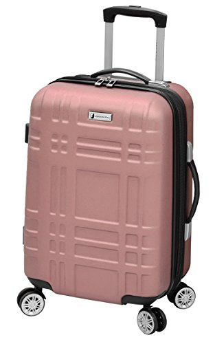 LONDON FOG Hardside Spinner Luggage, Rose Gold, Carry-On 20-Inch