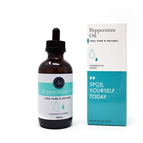 Olio essenziale Menthe Poivree puro e naturale GRANDE 118ml | Qualità terapeutica | Olio essenziale biologico | Massoterapia, aromaterapia, cura della pelle, fragranza della stanza e fai-da-te