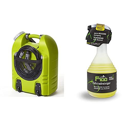 Aqua2go GD86 Hochdruckreiniger, Grün, 20 Liter & Dr. Wack - F100 Fahrradreiniger – Neue Formel 750 ml I Premium Reinigung für das komplette Fahrrad I Hochwertige Fahrradpflege – Made in Germany