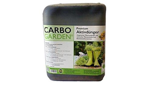CARBOGARDEN® Aktivdünger, flüssig, 5 Liter Kanister, mit natürlichen Brennesselkonzentrat und wertvoller Premium Pflanzenkohle für alle Blüh- und Grünpflanzen