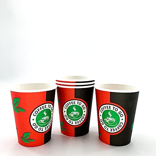 Enpack 1000 Kaffeebecher - 200ml/8oz - ökologisch abbaubare kompostierbare Einwegbecher - Hitzebeständige to Go Becher - Recycelbar Einwegbehälter für Kaffee/Tee/Kakao- Heiß Getränkebecher- Cup