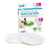 Suitable for the 3L genuine Catit Flower Fountain and Fresh & Clear fountain only, WILL NOT FIT non Catit (1.6L imitation) fountains. Check your fountain is genuine before purchasing To be replaced once a month Helps to prevent urinary tract diseases...