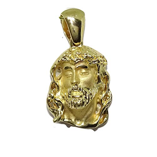 Never Say Never Cara de Cristo pequeña de Oro Amarillo de 18k Peso: 8.00 gr de Oro de 18k SIN Cadena