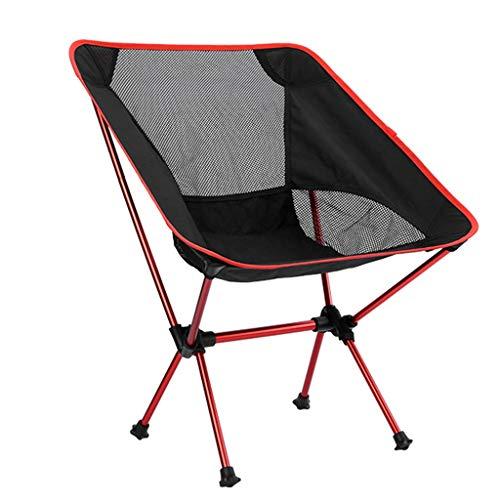 Stühle Faltbarer, Bequemer Ultra-lichtabnehmbarer Tragbarer, Büro-Home Fishing Camping Barbecue Garten Wandern, 330 Pfund Kapazität (Color : Red)