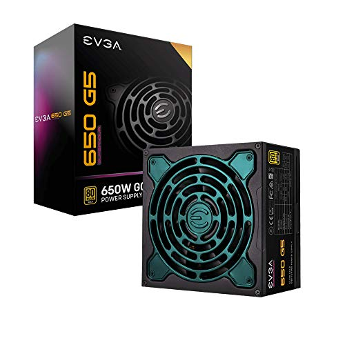 EVGA SuperNOVA 650 G5, 80 Plus Gold 650W, Fully Modular, Eco Mode with FDB Fan, 10 Year Warranty,...