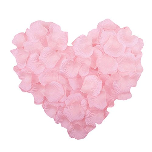 Neo LOONS 1000 Pcs Artificial Silk Rose Petals Decoration Wedding Party Color Light Pink