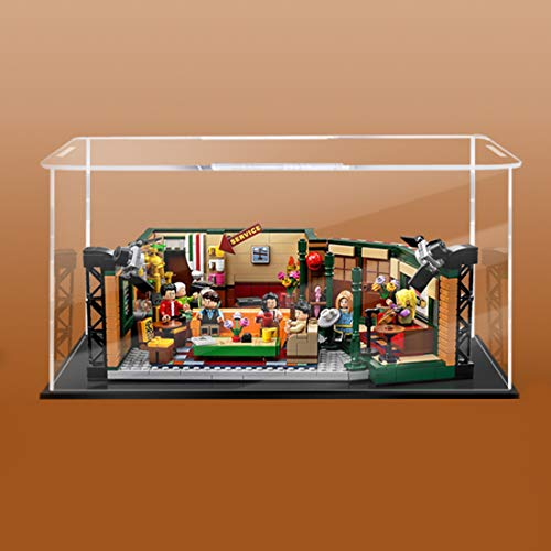 Foxcm Vitrine für Lego Friends Cafe 21319, Acryl-Vitrine kompatibel mit Lego Friends Cafe (nur Vitrine...