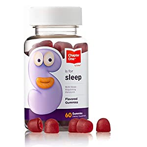 Chapter One Melatonin Gummies, Sleep Aid Gummy Supplement, Certified Kosher, 60 Flavored Gummies