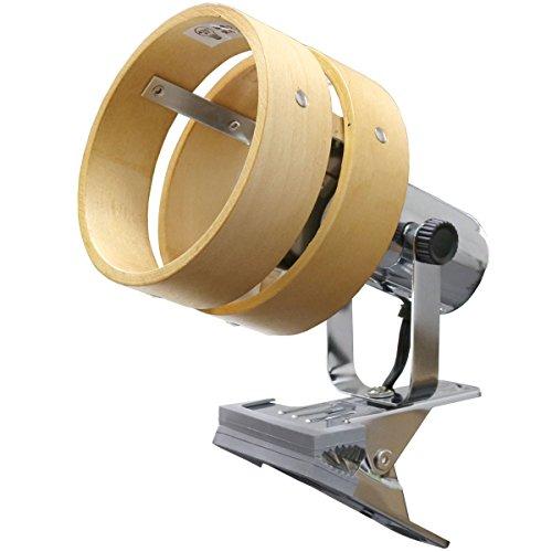 ottostyle.jp クリップライト ダブルシェード 【ライトブラウン】 口径E26 LED電球 厚み3cmまで クリップ ライト Clip Light