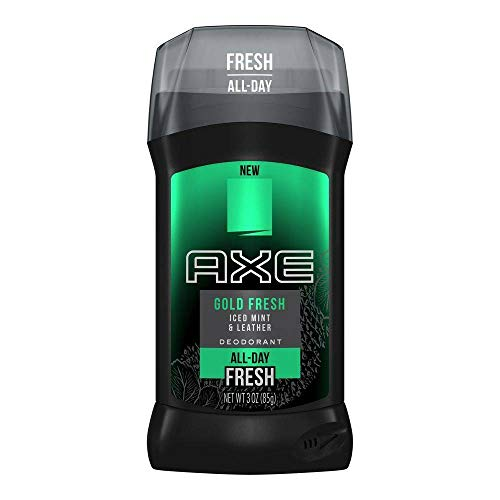 Axe Gold Fresh Deodorant Stick for Men, Iced Mint and Leather, 3 Oz