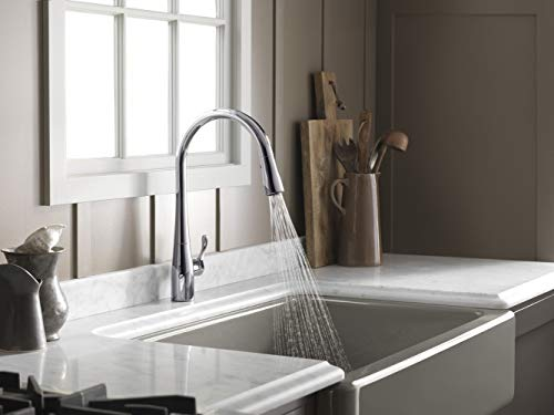 KOHLER K-596-CP Simplice Kitchen Faucet, One Size, Polished Chrome