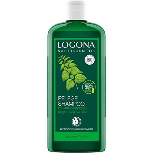 LOGONA Naturkosmetik Pflege Shampoo Bio-Brennnessel, Milde Reinigung für jedes Haar, Schenkt Glanz & Frische, Für die ganze Familie & tägl. Anwendung, Mit Bio-Extrakten, 250ml