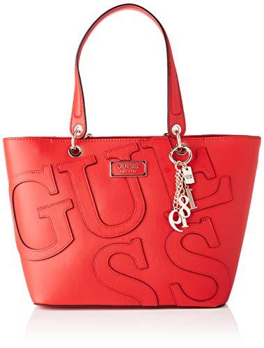 Guess Damen Kamryn Tote Bag, Rot (Lipstick), 15x27x42 Centimeters