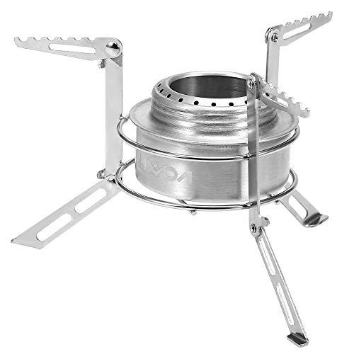 Lixada Mini réchaud à Alcool avec Pare-Vent/Support, Alliage d'aluminium, Acier Inoxydable, Pare-Vent, cuisinière pour Plein air/Camping/randonnée/Sac à Dos