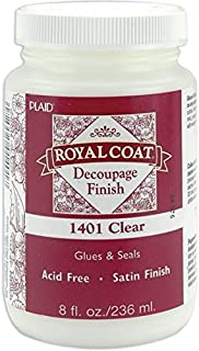 Plaid Royal Coat Decoupage (8-Ounce), 1401 Clear Satin Finish
