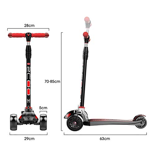 Affordable PLLP Child Foldable Scooter-Scooter Kick Foldable for Kids/Teens, Adjustable Handle Grip ...