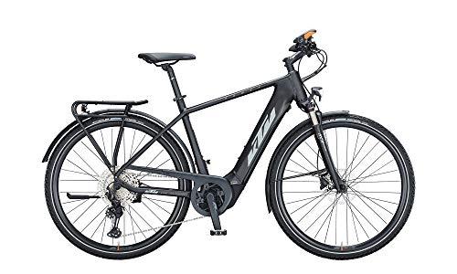 KTM Power Sport 12 Plus Trekking E-Bike 12-Gang XT Schaltwerk, 625Wh, CX 85NM Herrenfahrrad 12 Gang Kettenschaltung schwarz matt Bosch