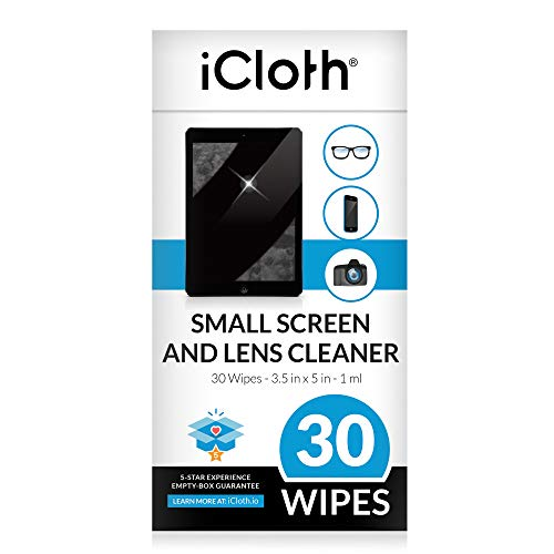 iCloth Lens and Screen Cleaner Pro-Grade Individually Wrapped Wet Wipes, 1 Wipe Cleans an Phone Screen, Camera, Laptop, Tablet, Smartphone, Lenses Box of 30 Kansas