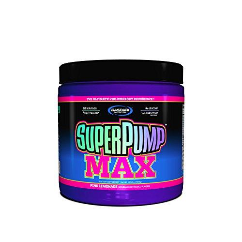 Gaspari Nutrition Super Pump Max Supplemento Polvere, Limonata Rosa - 480 g