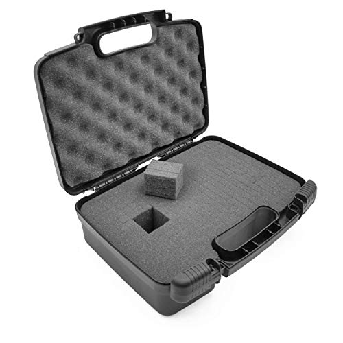 """CASEMATIX 12"""" Customizable Foam Case for Portable Electronics - Hard Carrying Case with Pre-Diced Foam Interior for Use As Pico Projector Case, Microphone Case, Recorder Case and More"""