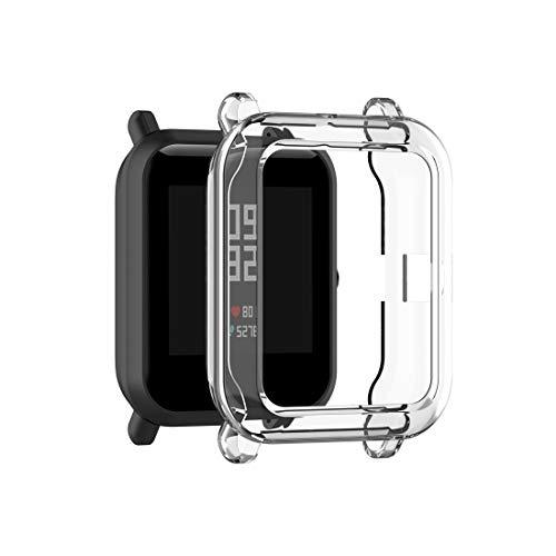 YANTAIAN para Amazfit Bip Lite Versión 1S / Bip s Carcasa Protectora Transparente TPU Reloj (Color : Transparent White)