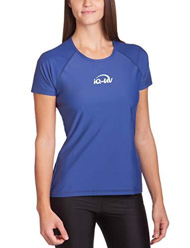 iQ-UV Damen 300 Regular Geschnitten, Uv-Schutz T-Shirt,Blau (Navy),S (38)