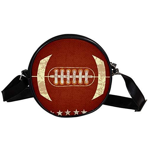 Bennigiry Handtasche / Clutch, American Football, rund, für Teenager, Mädchen und Frauen