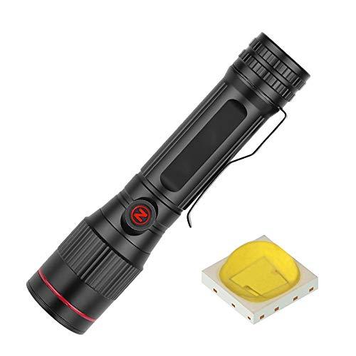 Topashe Mini portátil,Linterna USB, Linterna con Zoom Giratorio-Actualización,Carga USB portátil de Alta...