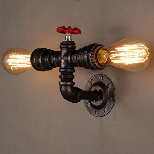 Lampe Retro Water Pipe Nostalgique Applique Décoration Applique Bar Fer Forgé American Lighting Simple Water Pipe lampe mur 12.31