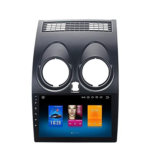 Lettore multimediale per auto Android 10.0 Unità di testa per autoradio singola Din per Nissan Qashqai J10 2008 2009 2010 2011 2012 2013 2014 Autoradio Bluetooth Supporto GPS WiFi USB Carplay Videocam