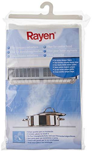 Rayen 6173.50 Filtre de hotte, Polyester, Blanc, 17 cm