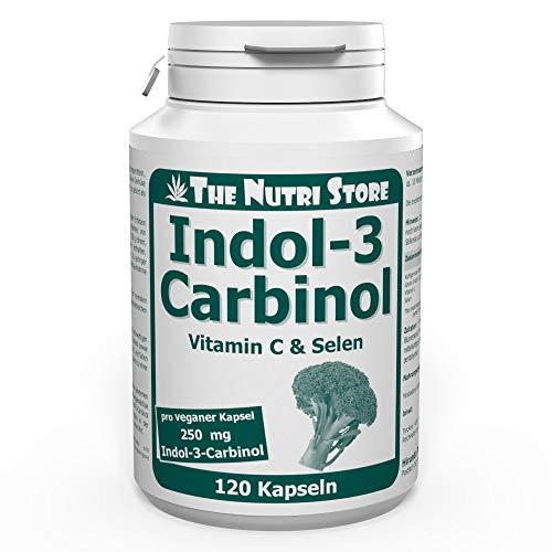 Indol-3-Carbinol 250 mg vegane Kapseln 120 Stk mit Vitamin C und Selen