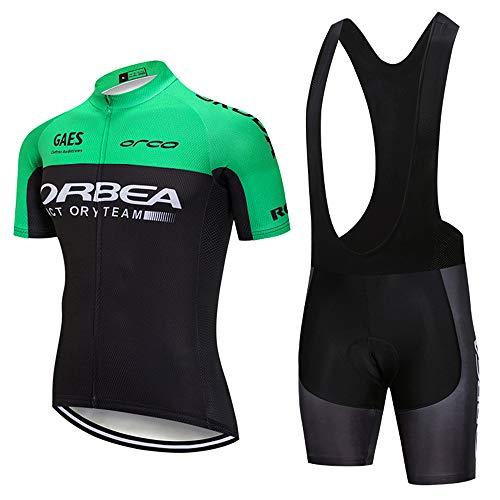 Miloto Cycling Jerseys Team Biking Clothing Men Bike Shirts and Bib Pants(XXXX-Large)