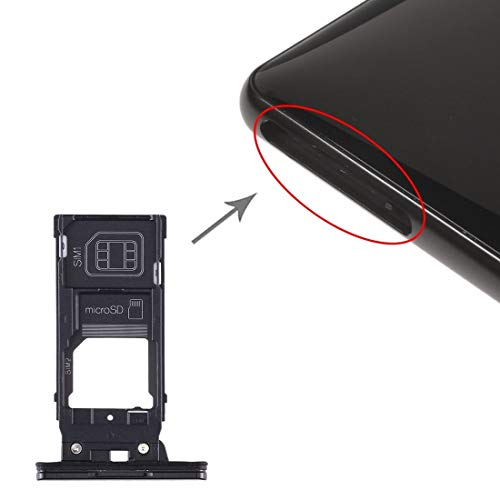 GGAOXINGGAO Accesorios para teléfono móvil La Bandeja de Tarjeta SIM Bandeja de Tarjeta SIM + + Micro SD Card Bandeja for Sony Xperia XZ2 (Negro) (Color : Black)