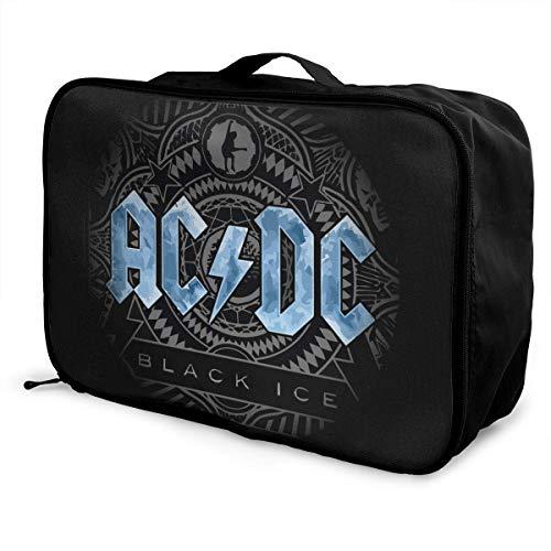 Pimkly ACDC Bolsa de viaje liviana de gran capacidad portátil bolsa de equipaje Weekender bolsa de viaje de noche
