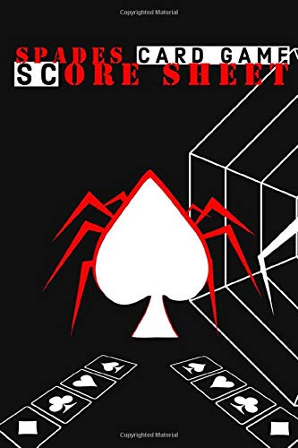 Spades Score Sheets : Scoreboards for Spades Game Nights | Playing Card Spades Scorebook  for Tournaments with Family and Friends Perfect for gift or ... score sheet dimension| Blank score sheets