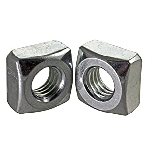 3//8-16 Thread Size Small Parts 11//16 Width Across Flats 3//8-16 Thread Size 11//16 Width Across Flats 23//64 Thick Steel Heavy Hex Nut Plain Finish Grade 2 Pack of 100 Pack of 100 23//64 Thick ASME B18.2.2