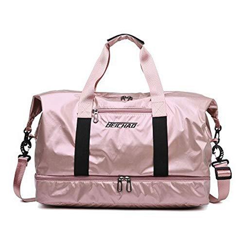 Xiaojie Reisetasche Reisetasche Reisetasche Tragbar Trocken und Nass Trennung Gepäck Tasche Aufbewahrungstasche Große Kapazität Custom Pink