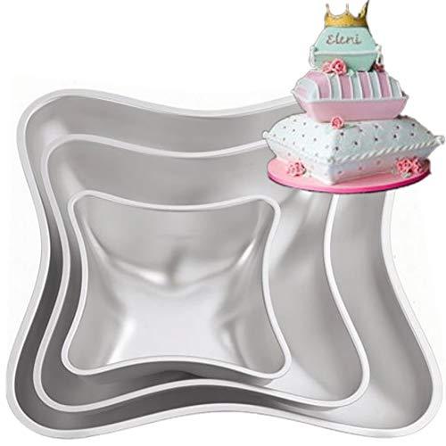 Redcolourful 3 Teile/Satz DIY Kissen Form Aluminium Kuchen Formen Set