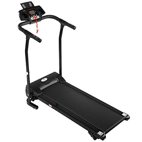 Fitnessclub Folding Electric Motorised Treadmill Walking Running Machine Adjustable Incline Fitness Exercise Cardio Jogging Emergency System Low Noise Powerful Motor
