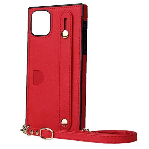 Berrywho Caja del teléfono, de la PU Cubierta Protectora de la Plaza Esquinas Tarjeta Crossbody Titular con la Mano la Correa de Hombro Ajustable de la Correa de Accesorios compatibles con 11 Pro MAX