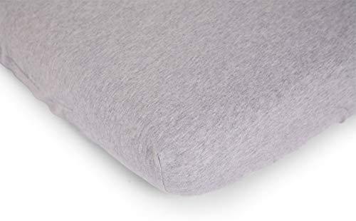 Wadiga hoeslaken voor matras, 70 x 140 cm, jersey, grijs, 100% katoen
