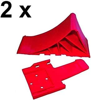 Rot Unterlegkeile 2 x Halter 2 x Unterlegkeil Hemmschuh