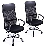 Exofcer High Curved Back Mesh Home Office Chair Executive Computer Height Adjustable Swivel