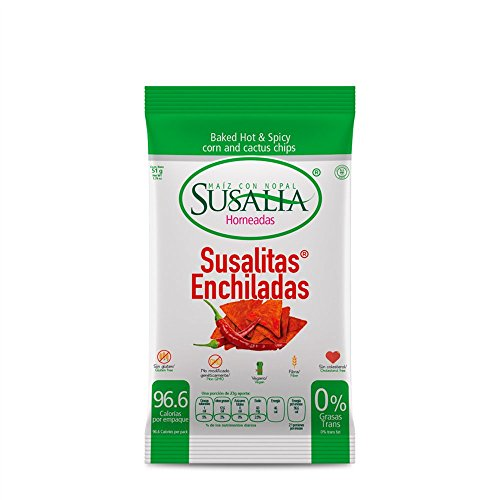 Baked Hot & Spicy corn and cactus chips Susalitas Enchiladas Only 96 Calories Per Bag