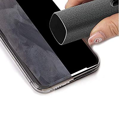 Touchscreen Mist Cleaner, Screen Cleaner, Sterilization Disinfection Cleansing, Screen Cleaner Spray, Safe for All Phones, Laptop and Tablet Screens,Two in One Spray and Microfiber Cloth (Gray)