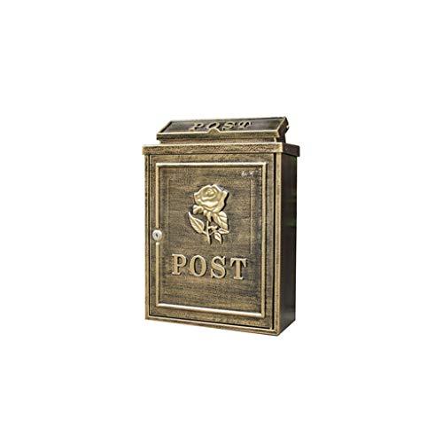 LSXLSD Europäische Klassische Villa Briefkasten, Briefkasten Briefkasten Antik Metallic, Vintage Brief Briefkasten