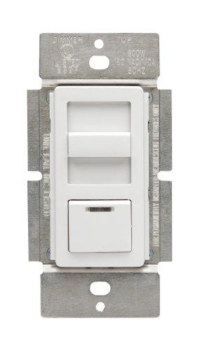 IllumaTech 1.5A Quiet Step Preset Fan Speed Control, Single Pole, White/Ivory/Light Almond - Leviton IPF01-1LZ