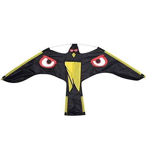 Farrom Pájaro Cicatriz Ahuyentador Vuelo Hawk Cometa Kit para Jardín Espantapájaros Yarda Casa Decoración - 1, One Size